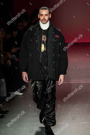 Editorial photo of Willy Chavarria show, Runway, Fall Winter 2018, New York Fashion Week Men's, USA - 05 Feb 2018