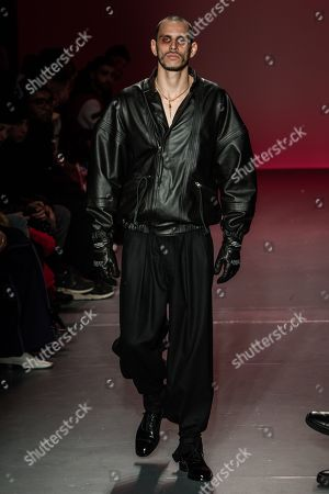 Editorial image of Willy Chavarria show, Runway, Fall Winter 2018, New York Fashion Week Men's, USA - 05 Feb 2018
