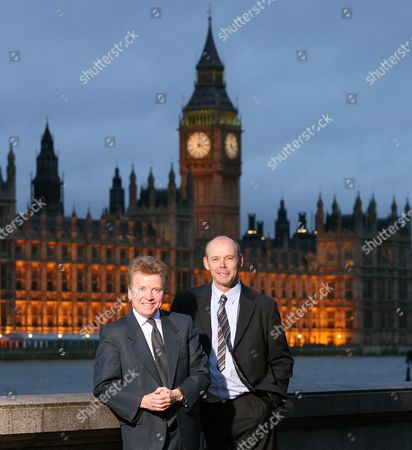 Lord Colin Moynihan (left) Chairman Of The British Olympic Association And Sir Clive Woodward Boa Director Of Elite Performance Near Their Thameside Offices By The Houses Of Parliament. Colin Moynihan And Sir Clive Woodward Both Now Of The British Olympic Association Near Their Thameside Offices By The Houses Of Parliament. Copyright Photograph :  . 8/1/2007