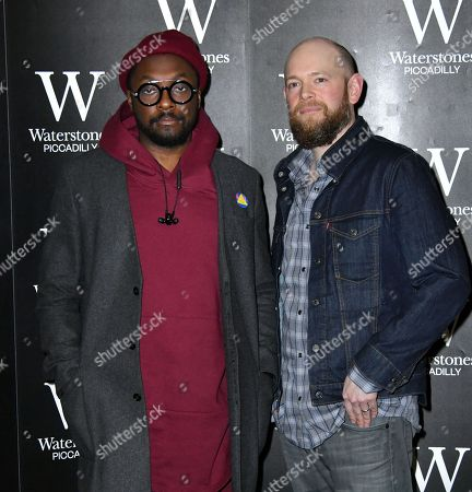 Editorial photo of will.i.am and Brian David Johnson 'Wizards and Robots' book signing, London, UK - 06 Feb 2018
