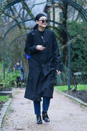 Editorial photo of Street Style, Haute Couture Fashion Week, Paris, France - 25 Jan 2018