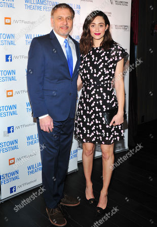 Gary Levine and actress Emmy Rossum