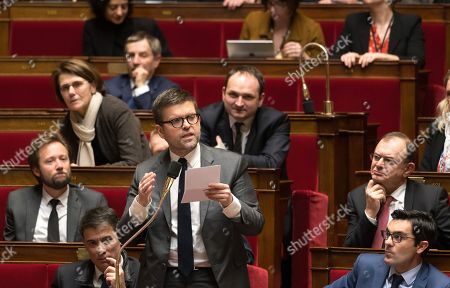 Luc Carvounas during the weekly session of questions to the government at the National Assembly