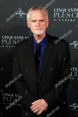Director James Foley poses during a photocall for the world premiere of 'Fifty Shades Freed - 50 Nuances Plus Claires' at Salle Pleyel in Paris