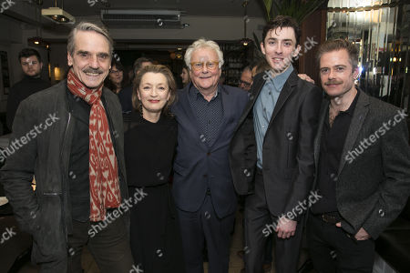 Jeremy Irons (James Tyrone), Lesley Manville (Mary Tyrone), Richard Eyre (Director), Matthew Beard (Edmund Tyrone) and Rory Keenan (James Tyrone Jr)