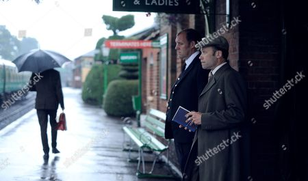Justin Edwards as Station Master Paterson and Simon Scardifield as Cedric Naughton