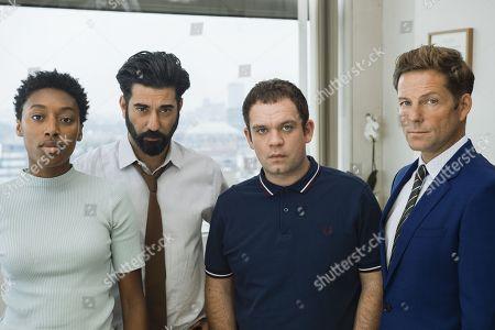 Ray Panthaki as Rav, Sophia Brown as Leann, Jamie Bamber as Tim and Jack Doolan as Mark.