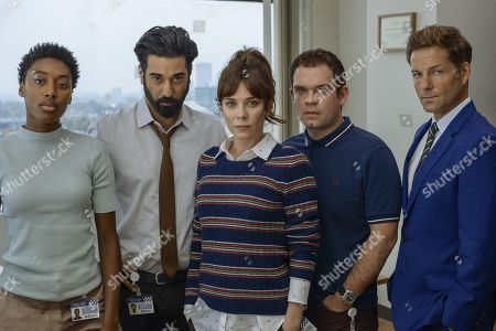 Anna Friel as Marcella, Ray Panthaki as Rav, Sophia Brown as Leann, Jamie Bamber as Tim and Jack Doolan as Mark.