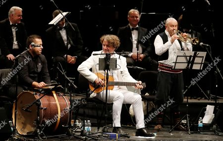 Musician and composer Goran Bregovic performs at the Arcimboldi theater in Milan, Italy