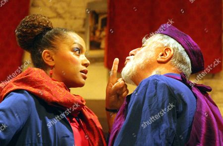 Angela Griffin as as Nourmahal and Barrie Rutter as The Emperor