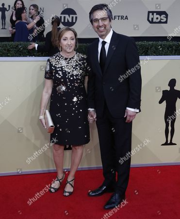 Stock Picture of Anna Romano (L) and Ray Romano (R) arrive for the 24th annual Screen Actors Guild Awards ceremony at the Shrine Exposition Center in Los Angeles, California, USA, 21 January 2018. The SAG Awards honors the best achievements in film and television performances.