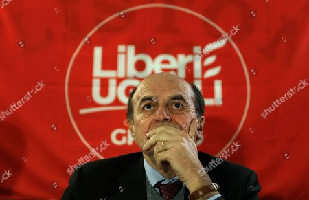 Pier Luigi Bersani attends a meeting in Verona, Italy