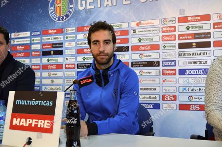 French midfielder Mathieu Flamini attends a press conference during his presentation as a new Getafe's new player in Getafe, Madrid, Spain, 07 February 2018.