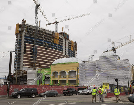 Construction continues on the Wynn Boston Harbor Casino in Everett, Massachusetts, USA, 07 February 2018. The Massachusetts Gaming Commission is to review the suitability of continuing to hold a gaming license for the multi-billion dollar construction project of a hotel and casino following the resignation of CEO Steve Wynn on 06 February 2018, due to an alleged pattern of sexual misconduct.