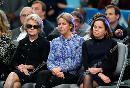 Martha Firestone Ford, Sheila Ford Hamp, Elizabeth Ford Kontulis. Detroit Lions owner and chairman Martha Firestone Ford, from left, vice chair Sheila Ford Hamp, and vice chair Elizabeth Ford Kontulis watch during a news conference to introduce new head coach Matt Patricia at their NFL Football training facility in Allen Park, Mich