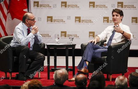 Justin Trudeau and David Axelrod