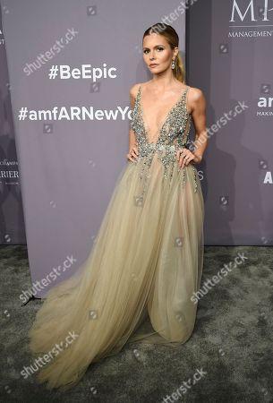 Elizabeth Sulcer attends the 2018 Fashion Week amfAR Gala New York at Cipriani Wall Street, in New York