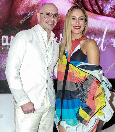 Editorial image of Pitbull and Claudia Leitte press conference, Sao Paulo, Brazil - 07 Feb 2018
