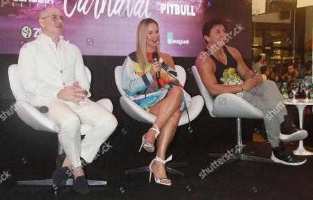 Editorial photo of Pitbull and Claudia Leitte press conference, Sao Paulo, Brazil - 07 Feb 2018