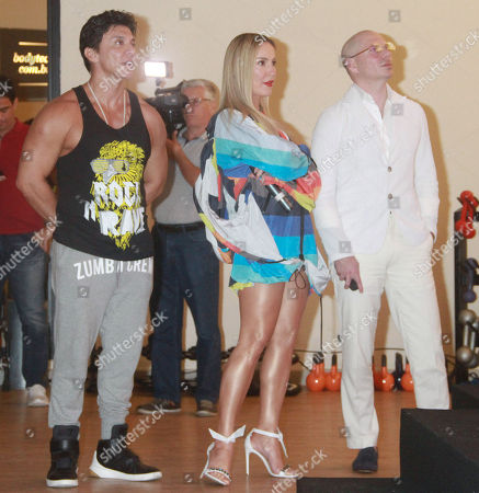 Editorial picture of Pitbull and Claudia Leitte press conference, Sao Paulo, Brazil - 07 Feb 2018
