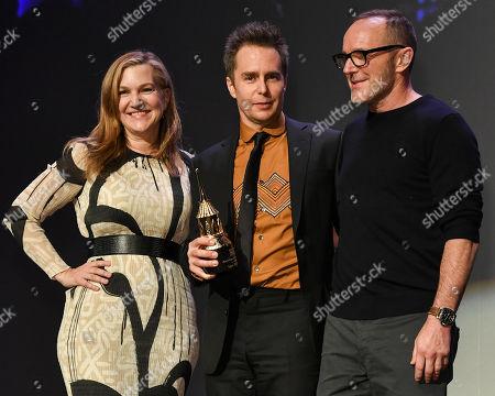 Krista Smith, Sam Rockwell and Clark Gregg