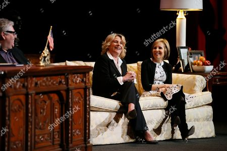 """Barbara Hall, Michelle King. Barbara Hall, left, Creator and Showrunner, """"Madam Secretary"""", and Co-Executive Producer, """"Homeland"""", and Michelle King, Creator, """"The Good Wife"""", """"The Good Fight"""" and """"BrainDead"""" participate in the Television Academy's member event """"Penning Pennsylvania Ave.: How Hollywood (Re)Creates The Oval Office,"""" on at the Saban Media Center at the Television Academy in North Hollywood Calif"""