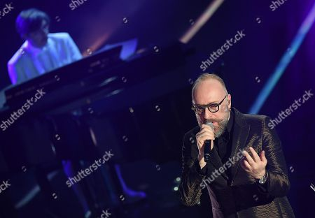 Italian singer Mario Biondi performs on stage during the 68th Sanremo Italian Song Festival at the Ariston theatre in Sanremo, Italy, 08 February 2018. The 68th edition of the television song contest runs from 06 to 10 February.