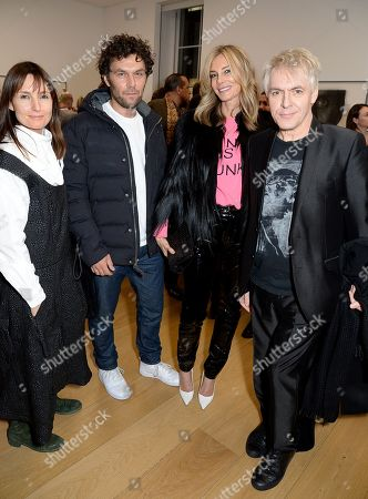 Stock Image of Daisy Bates, Barry Reigate, Kim Hersov and Nick Rhodes