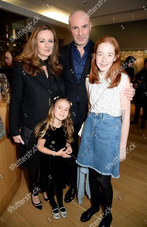 Lucy Yeomans and Jason Brooks with daughters