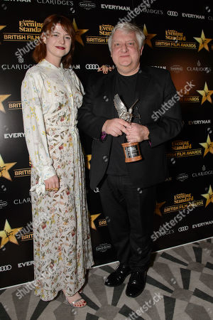 Simon Russell Beale, winner of Best Supporting Actor for Death of Stalin, presented by Jessie Buckley