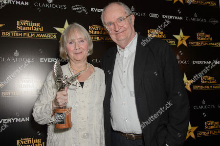 Gemma Jones, winner of Best Supporting Actress for Gods Own Country, presented by Jim Broadbent