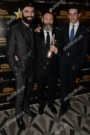 Winners of the Everyman Award for Best Film 'Gods Own Country' - Alec Secareanu, Francis Lee and Josh O'Connor