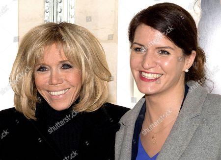 Brigitte Trogneux and Marlene Schiappa