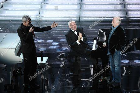 Claudio Baglioni, the pianist Danilo Rea, Gino Paoli