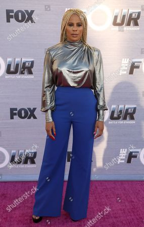 """Creative Director and choreographer Laurieann Gibson arrives at the season finale viewing party of """"The Four: Battle for Stardom"""" at the Delilah Restaurant and Lounge, in West Hollywood, Calif"""