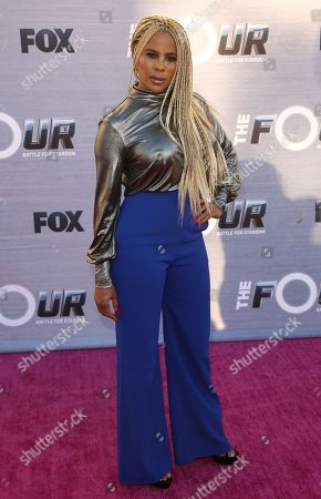 """Stock Photo of Creative Director and coreographer Laurieann Gibson arrives at the Season Finale Viewing Party of """"The Four: Battle for Stardom"""" at the Delilah Restaurant and Lounge, in West Hollywood, Calif"""