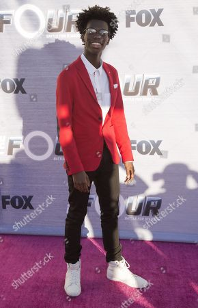 """Tim Johnson Jr. arrives at the Season Finale Viewing Party of """"The Four: Battle for Stardom"""" at the Delilah Restaurant and Lounge, in West Hollywood, Calif"""