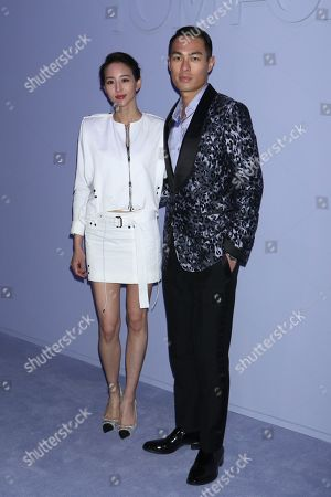 Stock Image of Janine Chang and Tony Yang, Arrivals