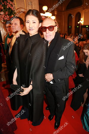 Stock Photo of Michel Comte and wife