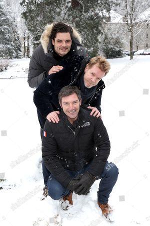 Florent Manaudou, Xavier Deluc and Franck Semonin