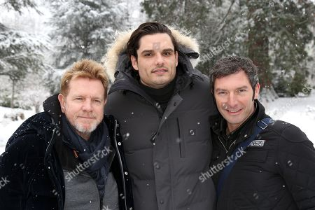Xavier Deluc, Florent Manaudou and Franck Semonin