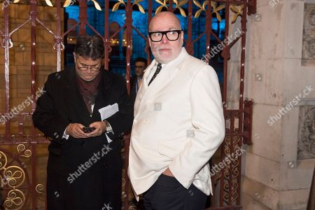 Gary Goldsmith, the uncle of Catherine Duchess of Cambridge, arrives at the Natural History Museum in London for the annual Black and White Ball, a fundraiser held by the Conservative Party.