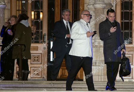 Gary Goldsmith, the uncle of the Duchess of Cambride leaves the Natural History Museum in London following the annual Black and White Ball, a fundraiser held by the Conservative Party.