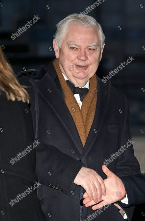 Norman Lamont arrives at the Natural History Museum in London for the annual Black and White Ball, a fundraiser held by the Conservative Party.