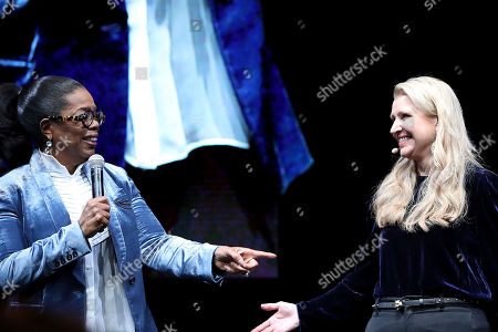 Mindy Grossman, Oprah Winfrey. Oprah Winfrey ? Weight Watchers board member, strategic advisor, owner and member ? joins Weight Watchers President and CEO Mindy Grossman onstage at a global Weight Watchers employee event to discuss the company's new purpose to inspire healthy habits for real life as well as the bold initiatives to evolve the brand and broaden the company's impact, at Alice Tully Hall, Lincoln Center in New York