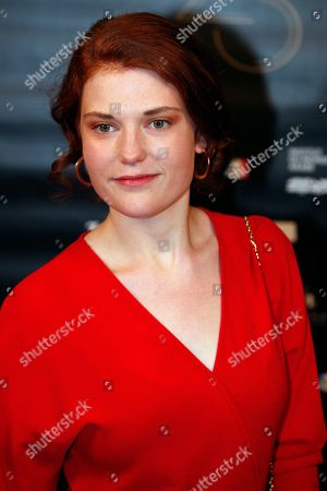 """Iris Bry poses during a photocall prior to the 23rd Lumieres awards ceremony at the """"Institut du Monde Arabe"""" in Paris, . The Academie des Lumieres, is a group of 200 foreign journalists who reunite each year in Paris to vote for the best French films"""