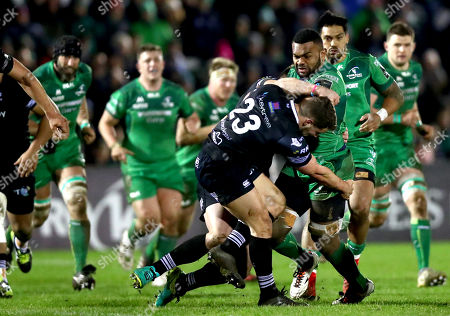 Stock Picture of Connacht vs Ospreys. Ospreys' Joe Thomas and Naulia Dawai of Connacht