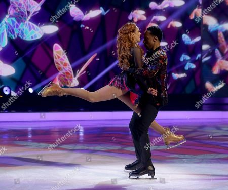 Lemar and Melody Le Moal in the skate off