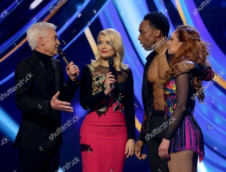 Phillip Schofield and Holly Willoughby with Lemar and Melody Le Moal