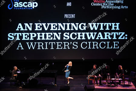 Stock Photo of Stephen Schwartz, Megan Hilty, Cinco Paul, Marcy Heisler and Zina Goldrich